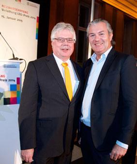 ZIA-Präsident Dr. Andreas Mattner und Marc Wiese, Vorstand SANUS AG